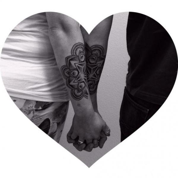 Arm Dotwork Geometric Tattoo by Corey Divine