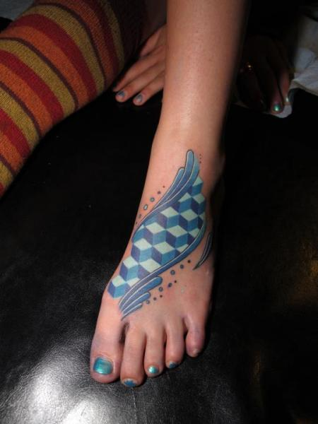 Foot Abstract Tattoo by Corey Divine