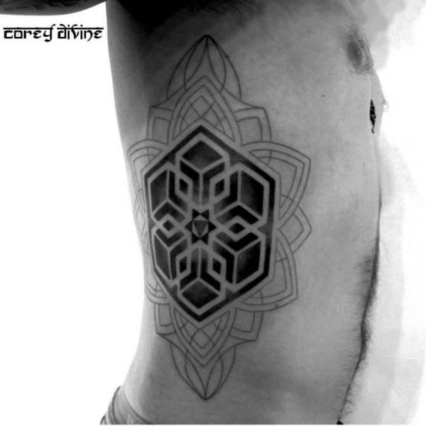 Side Geometric Tattoo by Corey Divine