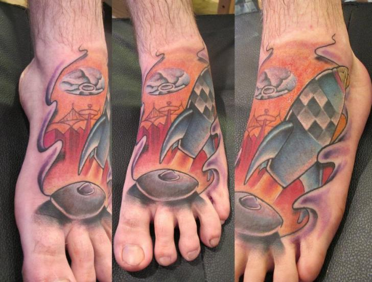 Foot Rocket Tattoo by Marked For Life