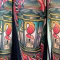 Old School Blumen Lampe tattoo von Marked For Life