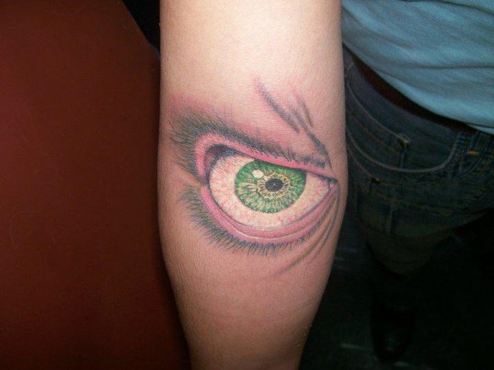 Arm Realistic Eye Tattoo by Dr Mortiis Tattoo Clinic