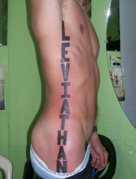 Side Lettering Fonts Tattoo by Dr Mortiis Tattoo Clinic
