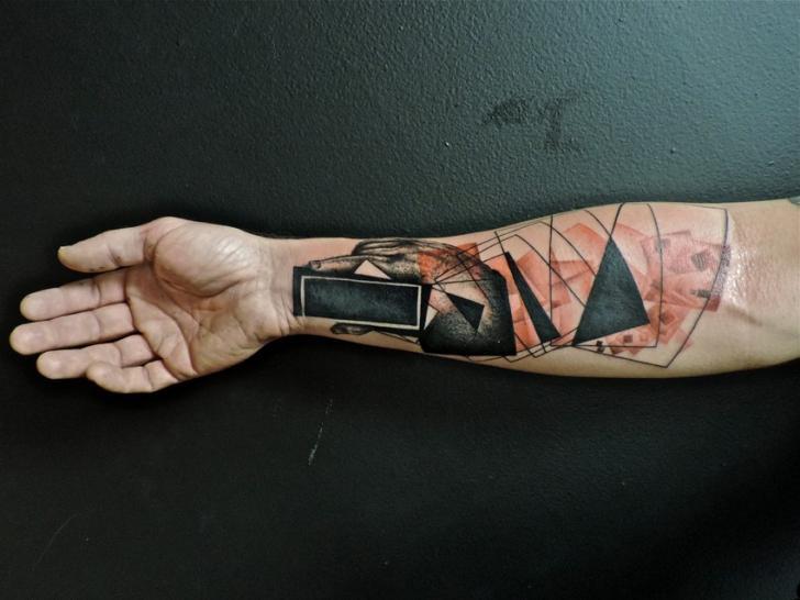Arm Abstract Tattoo by Toko Lören Tattoo