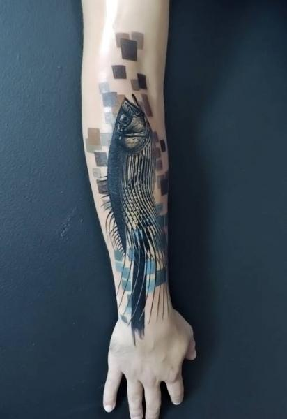 Arm Fish Tattoo by Toko Lören Tattoo