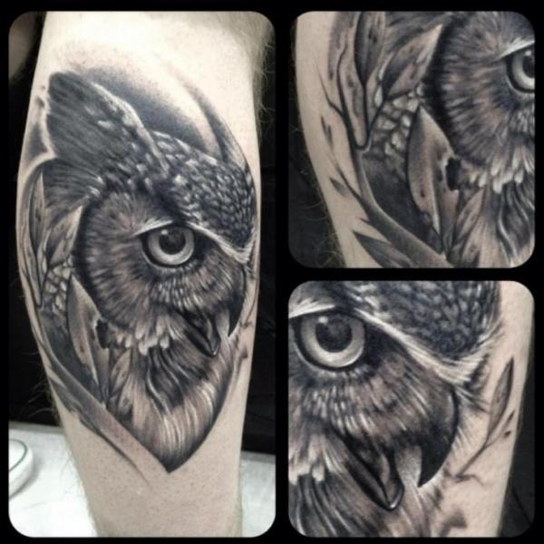 Arm Realistic Owl Tattoo by Underworld Tattoo Supplies