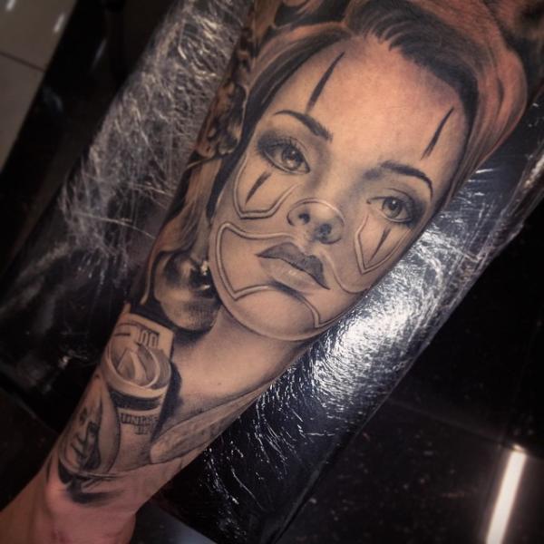 Arm Clown Women Tattoo by Underworld Tattoo Supplies