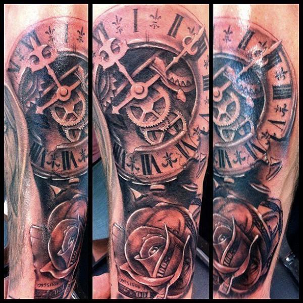 Uhr Blumen Tattoo von Underworld Tattoo Supplies