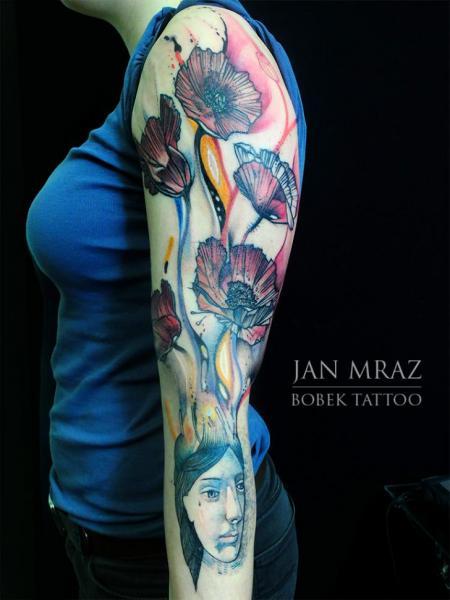 Blumen Sleeve Tattoo von Jan Mràz