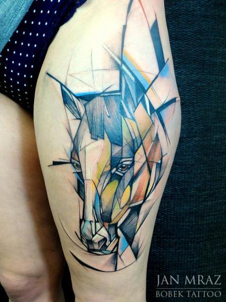 Tatuaggio Cane Coscia Astratto di Jan Mràz