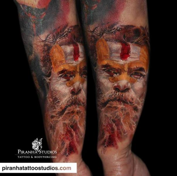 Arm Portrait Tattoo by Piranha Tattoo Studio
