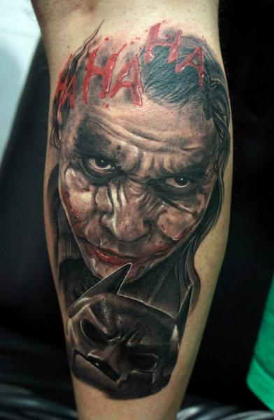 Arm Fantasie Batman Joker Tattoo von Fredy Tattoo
