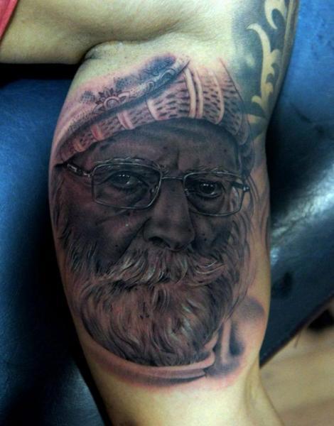 Arm Portrait Realistic Tattoo by Fredy Tattoo