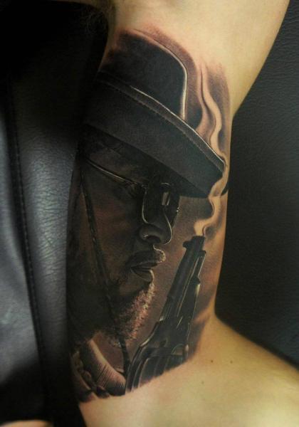 Arm Porträt Realistische Django Tattoo von Fredy Tattoo