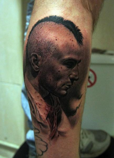 Arm Portrait Realistic Robert De Niro Tattoo by Fredy Tattoo