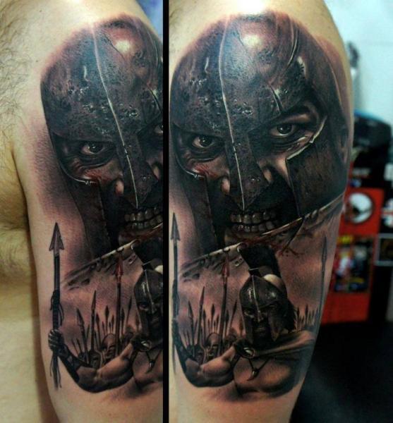 Arm Realistische Krieger Film 300 Tattoo von Fredy Tattoo