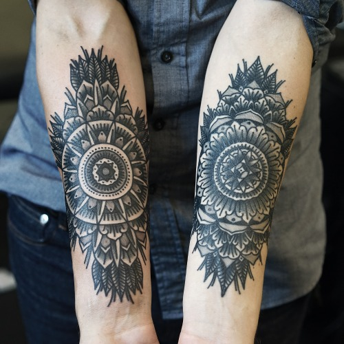 Arm Geometric Abstract Tattoo by Philip Yarnell