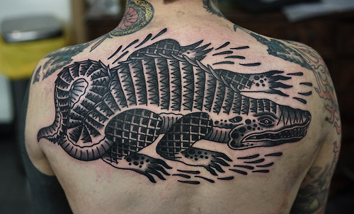 Tatouage Retour Crocodile Par Philip Yarnell