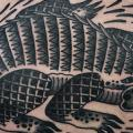 Back Crocodile tattoo by Philip Yarnell