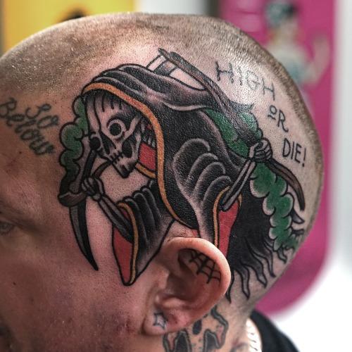 Old School Kopf Tod Tattoo von Philip Yarnell