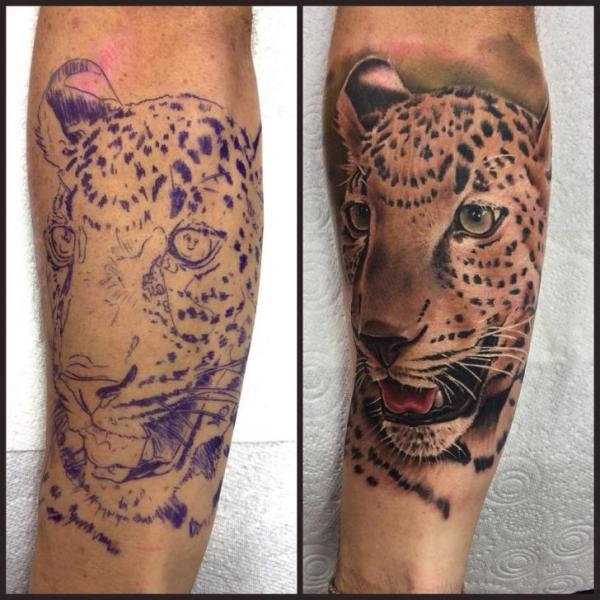 Arm Realistic Tiger Tattoo by Pete the Thief
