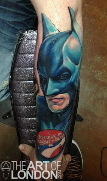 Arm Fantasy Batman Tattoo by The Art of London