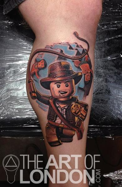 Fantasy Calf Lego Tattoo by The Art of London