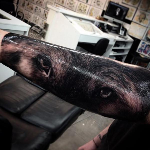 Arm Realistic Eye Tattoo by Drew Apicture