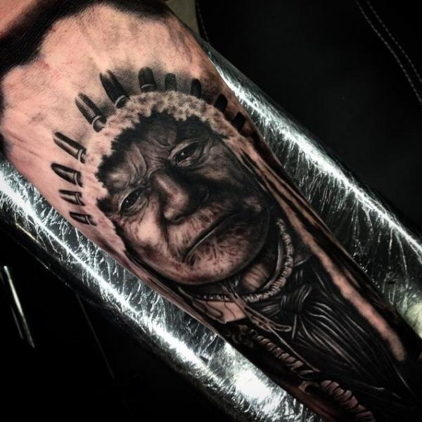 Arm Realistic Indian Tattoo by Drew Apicture
