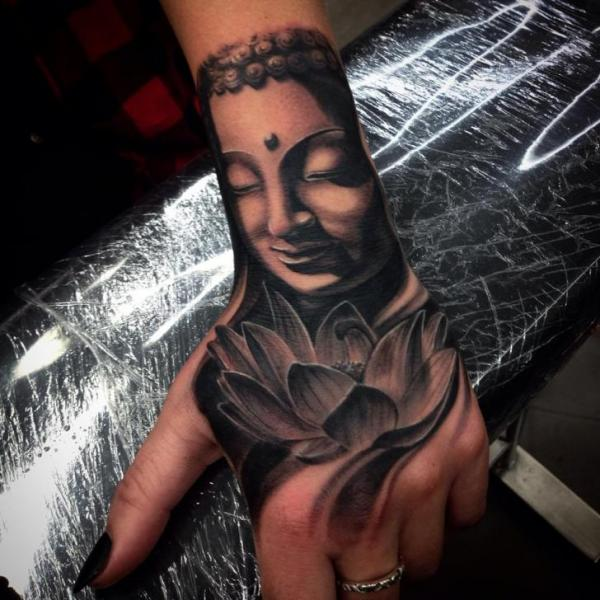Buddha Hand Tattoo by Drew Apicture