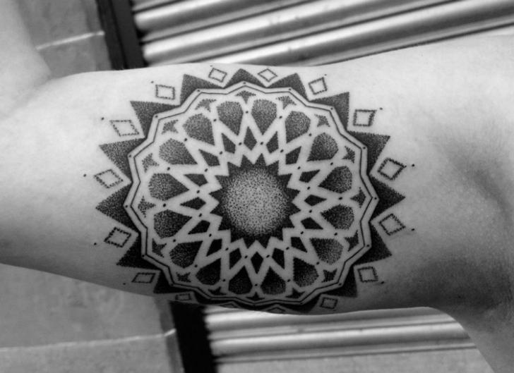 Arm Geometric Tattoo by Custom Ink Tattoo