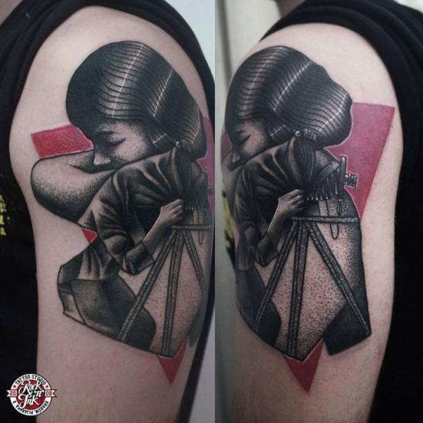 Shoulder Abstract Tattoo by Rock n Ink Tattoo