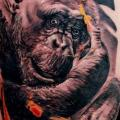 Monkey Thigh tattoo by Rock n Ink Tattoo