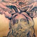 tatuaje Letras Mano Espalda Religioso por Last Angels Tattoo