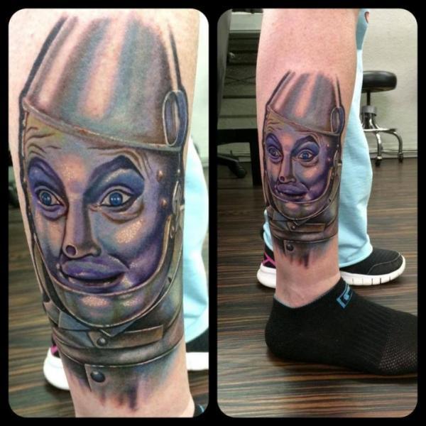 Fantasy Calf Character Tattoo by Last Angels Tattoo