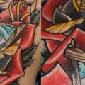tatuaje Hombro New School Dios por Last Angels Tattoo