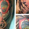 New School Mask Lamp Abstract tattoo by Last Angels Tattoo