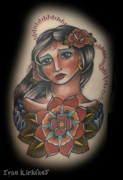 Old School Indian Tattoo by Last Angels Tattoo