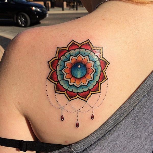 Shoulder Geometric Tattoo by Last Angels Tattoo