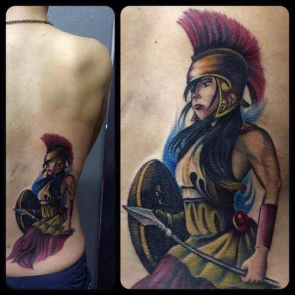 Side Women Warrior Tattoo by Last Angels Tattoo