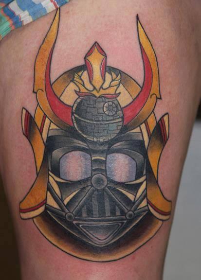 Samurai Thigh Tattoo by Last Angels Tattoo