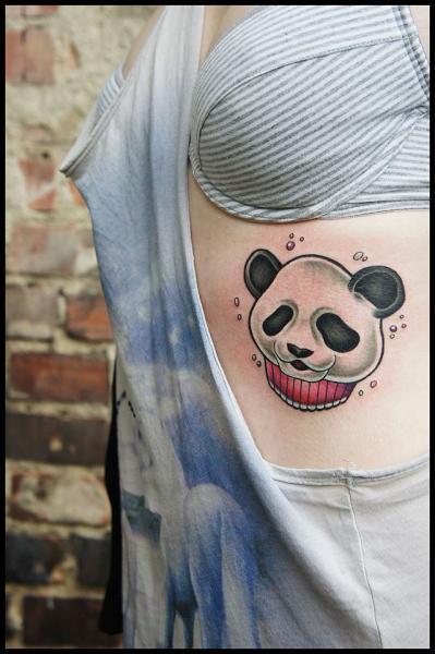 Side Panda Tattoo by White Rabbit Tattoo