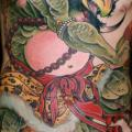 Fantasie Brust Bein Bauch Monster tattoo von Dagger & Lark Tattoo