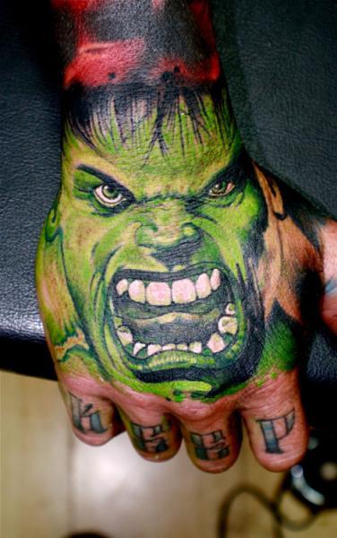 Fantasy Hand Hulk Tattoo by Dagger & Lark Tattoo