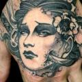 Japanese Hand Geisha tattoo by Dagger & Lark Tattoo