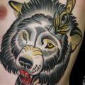 tatuaggio Fianco Orso Pugnale di Devils Ink Tattoo