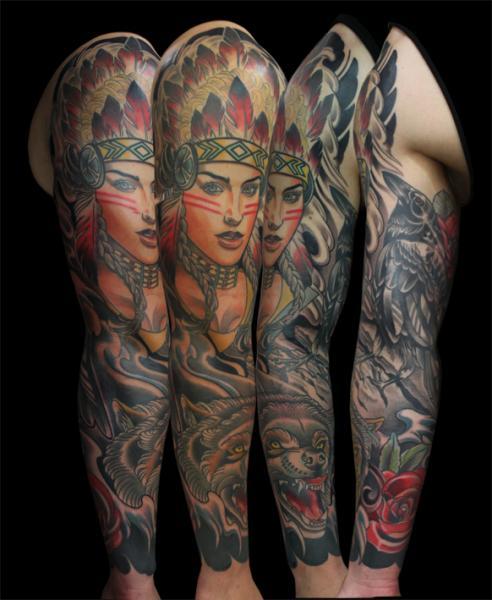Tatuaje Oso Indio Manga por Devils Ink Tattoo