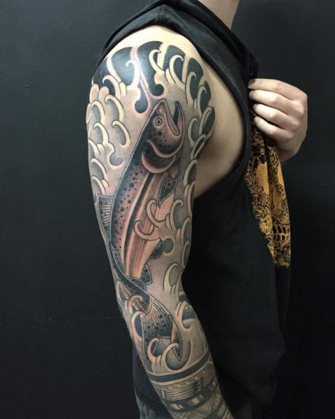 Arm Fish Tattoo by Chapel Tattoo