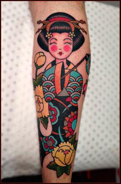 Arm Geisha Tattoo von Chapel Tattoo