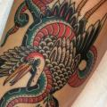 Arm Snake Old School Bird tattoo by Chapel Tattoo